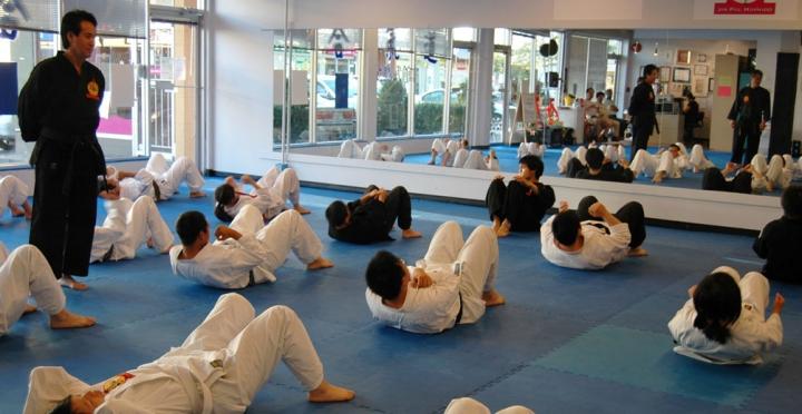 Grandmaster Kim and students