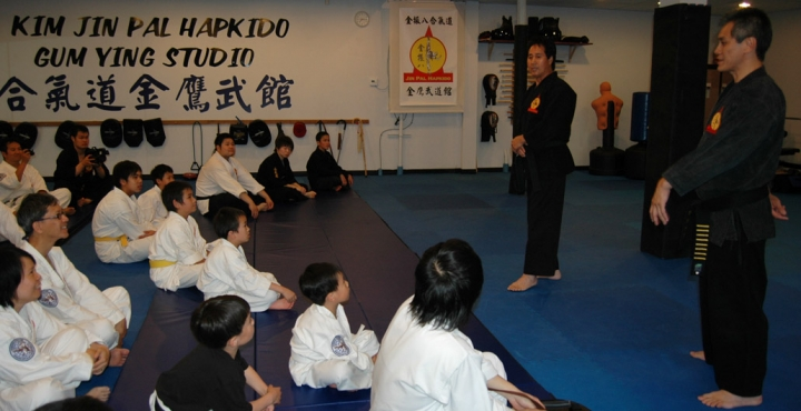 Grandmaster Kim and students