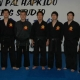 Grandmaster Kim, Master Thomas Lok and Black Belts